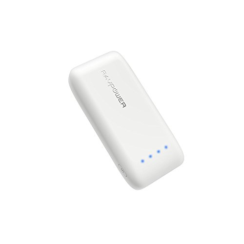 RAVPower Caricabatterie Portatile da 6700mAh con Tecnologia iSmart 2.0, Uscita 2.4A, Entrata 2A, Protezioni Multiple del Circuito Batteria Esterna per iPhone, iPad, Huawei, Samsung Galaxy ecc -Bianco