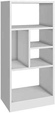 BRV Móveis MDP 15mm Bookcase, BE 841-06, White, W 41 X D 29.4 x H 90.5