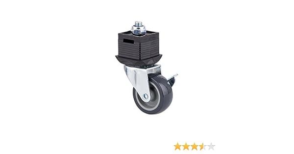 orientabile Wolfcraft 6066000-1 piedino con ruota e freno