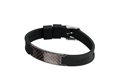 Zenturio® Original Zazen52 Fullcarbon Limited Edition - Exklusiv Magnet Minus Ionen Wohlfühl - Armband Magnetarmband, Fire Red, Standard