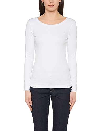 Marc Cain Essentials Damen T-Shirt +E4805J50 Weiß (White 100)