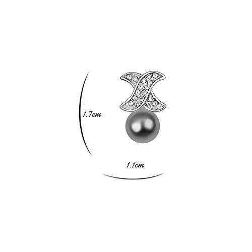 MT, Borsa a spalla donna Perle gris foncé Perle gris foncé