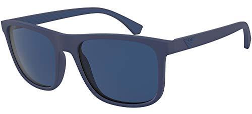 Ray-Ban Herren 0EA4129 Sonnenbrille, Blau (Matte Blue), 56