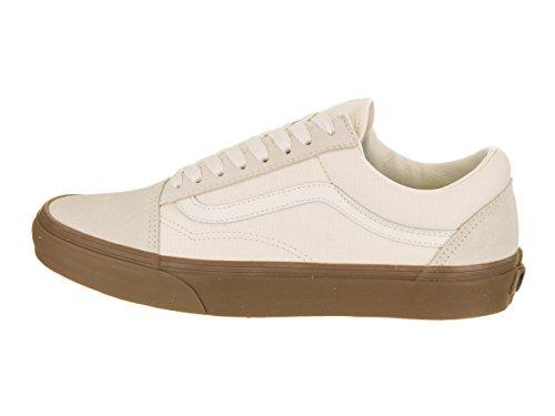 Vans U Old Skool, Chaussures de Sport Mixte Adulte Suede Canvas White Gum