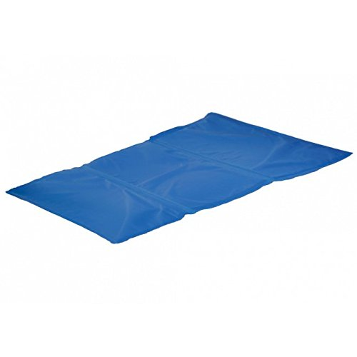 Aktiv Kühlkissen Fresk für Ihren Hund oder Katze funktioniert ohne vorkühlen Größe: S L: 50 cm B: 40 cm S blau Hundematte Kühldecke Kühlmatte - 2