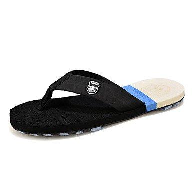 Slippers & amp da uomo;Pistoni di estate lattice casuale piani del tallone Altri Nero Marrone Giallo Walking sandali US10 / EU43 / UK9 / CN44