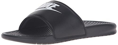 Nike Benassi JDI, Men's Beach & Pool Flip Flops, Black (Black/White), 8 UK