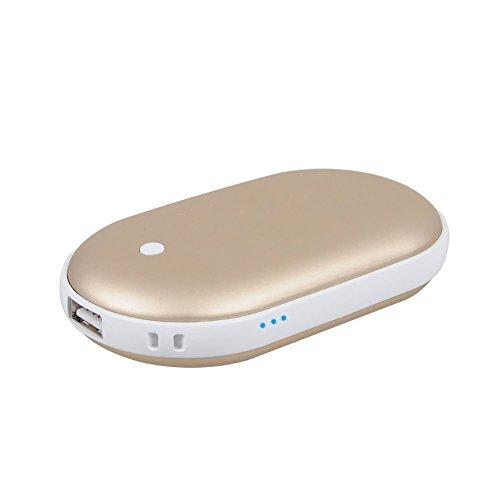 Bestech 5200Mah portable Batterie Externe USB Pocket chauffe-main électrique réchauffeur rechargeable (Or)