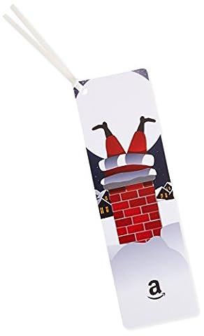 Amazon.de Geschenkgutschein als Lesezeichen - 25 EUR (Weihnachtsmann im Schornstein)