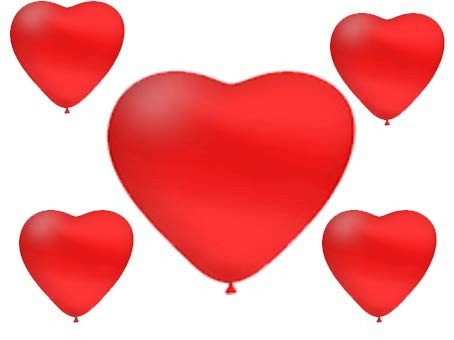 Party store web by casa dolce casa san valentino pallone foil cuore supershape forma cuore kit bouquet centrotavola festa amore innamorati - cdc - (20 palloncini a forma di cuore rosso)