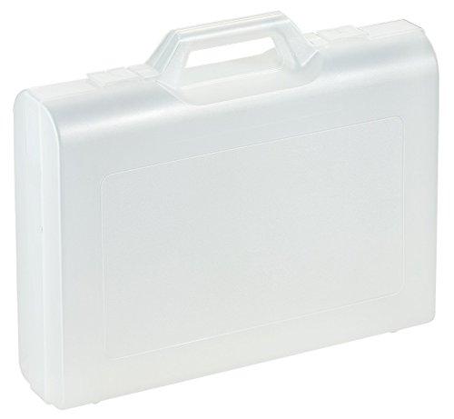Kunststoffkoffer leer in transparent, Außenmaß: 406x296x100 mm