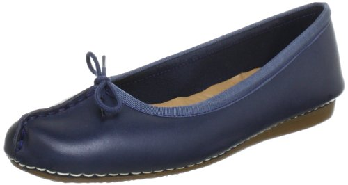 Clarks Freckle Ice, Damen Mokassin, Blau (Navy Leather), 37 EU (4 Damen UK) (Damen Mokassin Hausschuhe)