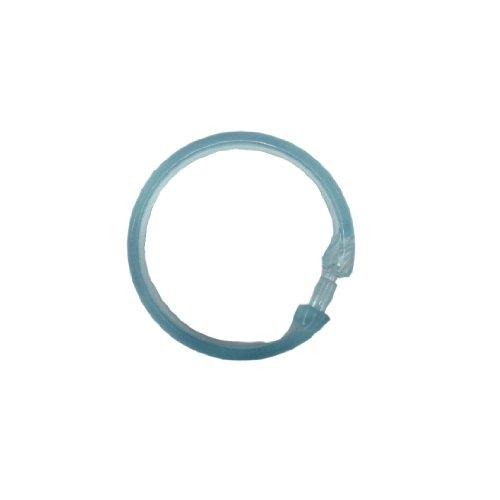 niceeshop(TM) Rund Bad Vorhang Ring (Hell Blau,Set von 12pcs)