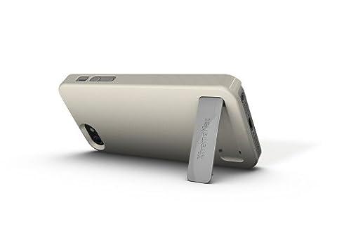 XtremeMac IPP-KSN-03 Microshield Stand Pearl Schutzhülle mit integrierter Halterung für Apple iPhone 5