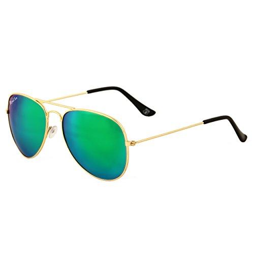 Royal Son UV Protected Aviator Sunglasses For Men And Women (RS009AV|58|Multi Mirrored Lens)