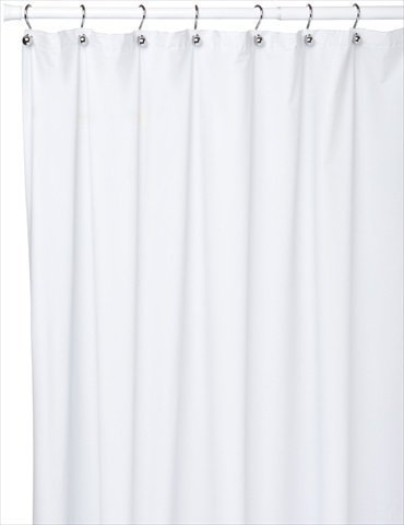Carnation Home Damen Jumbo lang Vinyl shower curtain Liner, 72-inch by 96-inch, Super Clear by Carnation Home Damen