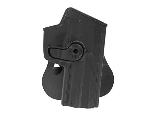 IMI Roto Paddle Hartschalen- Holster für USP 9mm / P8, inkl. Gürteladapter - schwarz (rechts) -