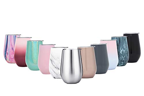 BOHORIA® Premium Design Edelstahl Thermo-Tasse – Leicht & Elegant (350ml) – Doppelwandiger, Vakuumisolierter Trink Becher mit Deckel (Trinköffnung) (Silver Steel)