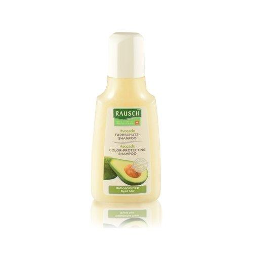 Rausch Avocado Farbschutz-Shampoo (coloriertem Haar verlängerten, intensiven Glanz, ohne Silikone und Parabene - Vegan), 4er Pack (4 x 40 ml)