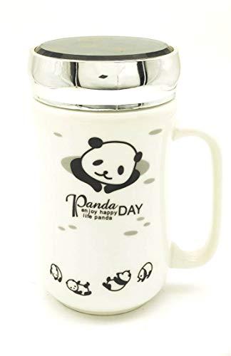 Satyam Kraft Ceramic Panda Printed Mug ,(1 Piece),White