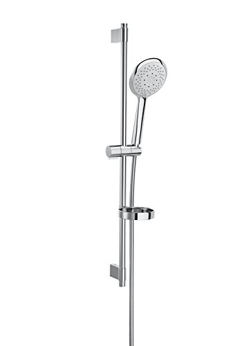 Roca Sensum – Kit de ducha. incluye ducha de mano de 130 mm de 4 funciones, barra de 800 mm, soporte regulable Duchas y rociadores. Ref. A5B9107C00