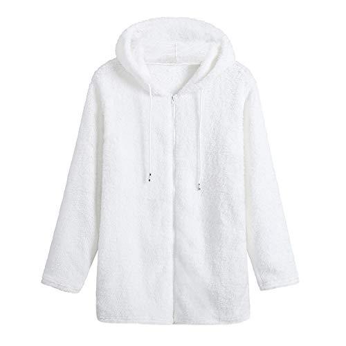 Damen Hoodie stylischer Herbst Winter Jacke Faux Für Kapuzenpullover Teddy-Fleece Mantel...