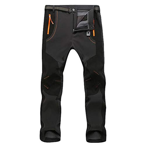 83acbbdad5a072 Cayuan Pantaloni da Trekking Impermeabili Softshell da Uomo Donna Pantalone  da Arrampicata Addensare All'aperto