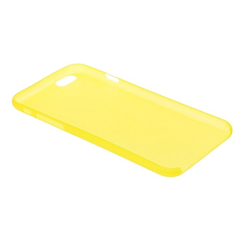 wkae Schutzhülle Fall & 0,3 mm ultradünne Polycarbonat Material PC Schutz Shell für iPhone 6 Plus, transparent Version/matt Edition gelb