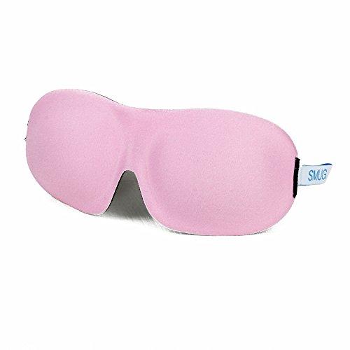 SMUG schönheitsfördernd-geformte 3D-Blackout-Schlafmasken, rosa