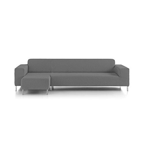 Eiffel Textile Nîmes Chaise Longue Schutzhülle Sofa kurzen Arm Links 240 x 195 x 2 cm grau