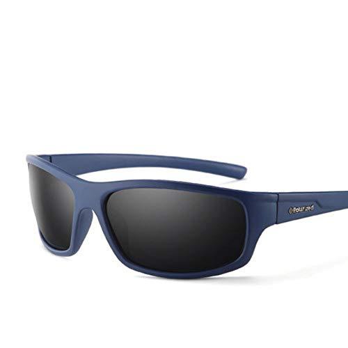 MOLUO Sonnenbrille Optische polarisierte Sonnenbrille Männer Arbeiten männliche Brillen-Sonnenbrille-Reise, dunkelblauer Rauch C05, China um