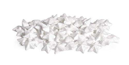 VBS Großhandelspackung 80x Deko-Sterne Glitter 15 mm Styropor-Sterne