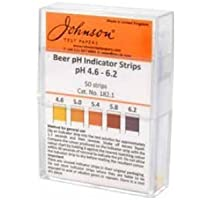 JOHNSON BEER pH INDICATORE STRISCE (pH 4. 6-6,2) PER FIRRA FATTA IN CASA
