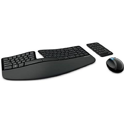Microsoft Sculpt Ergonomic Desktop - Teclado (RF inalámbrico, Oficina, Inglés, USB, Batería, 0 - 40 °C)