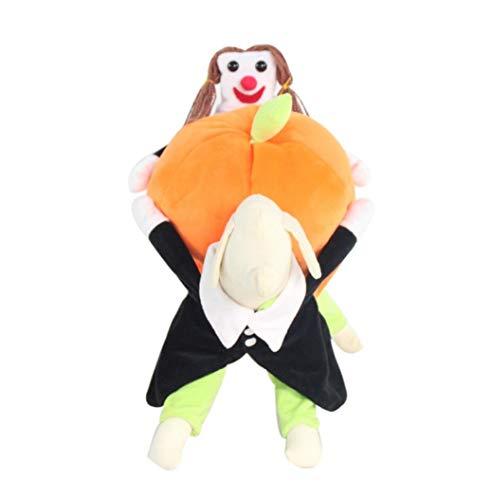 Hund Katze Weihnachten Kleid, Haustier Weihnachten Kleidung, Haustier Hund Katze Tragen Kürbis Halloween Party Kostüm Kostüm Bekleidung (S, M, L, XL, ()