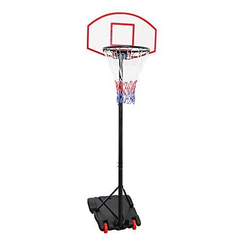 Display4top réglable 179-209 cm - Panier de basket-ball Portable Système de filet sur roues