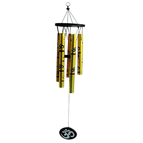 Rebuy Feng Shui Om Vastu Five Pipe Wind Chime For Balcony, Window and Positive Energy(6.5 inch)  available at amazon for Rs.250