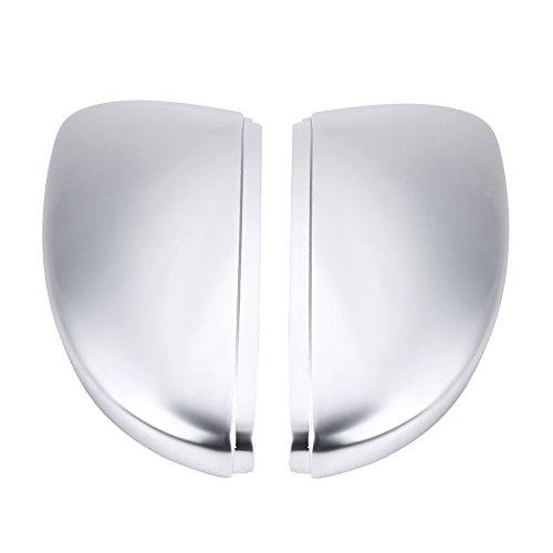 2pcs Coques de Rétroviseur, Keenso Couvertures de Rétroviseur Couvre-rétroviseur Capuchon de Protection de Rétroviseur de Voiture Cache de Rétroviseur Chrome Mat en ABS