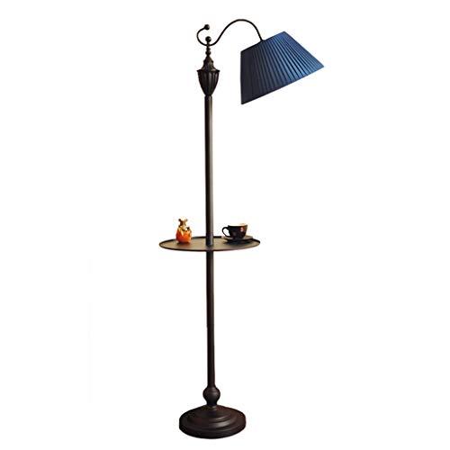 Lampe De Table Lampe De Table Élégante En Fer Forgé Lampe De Table Élégante De Salon Lampe De Salle De Bain Personnalisée Lampe De Table Verticale Princess (Color : Blue)