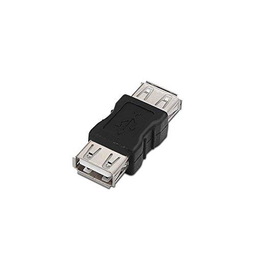 NanoCable 10.02.0001 - Adaptador USB 2.0, tipo A/H-A/H, hembra-hembra, negro