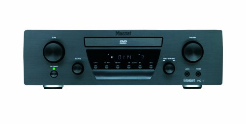 Magnat VC 1 Paket High End Dolby Virtual 2.1 DVD-Receiver inkl. Lautsprecher Quantum 603 schwarz/nuss Quantum-receiver
