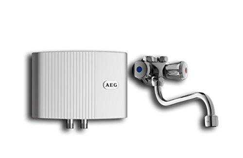 AEG hydraulischer Klein-Durchlauferhitzer MTH 350 OT mit Wandbatterie, 3,5 kW, steckerfertig, drucklos für Handwaschbecken, 189556