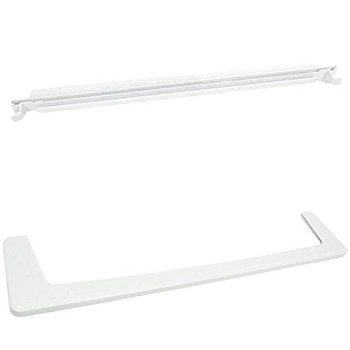 spares2go vorne + hinten Glasregal Trim Guard Set für Indesit Kühlschrank mit Gefrierfach Fitment List D (Radkappe Hinten)