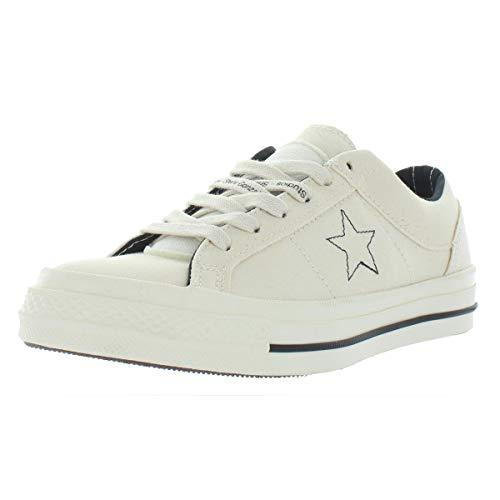 Converse Herren One Star Ox Low Top Fashion Skate-Schuhe, Beige (Egret/Egret/Black), 36.5 EU -