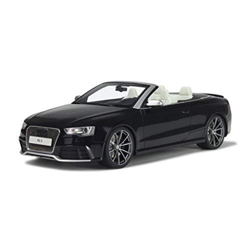 GAOQUN-TOY 1:18 Audi Rs5 Convertible Audi RS5 CABRIOLET Modello di Auto in Resina (Colore : Nero, Dimensioni : 27cm*11cm*9cm)