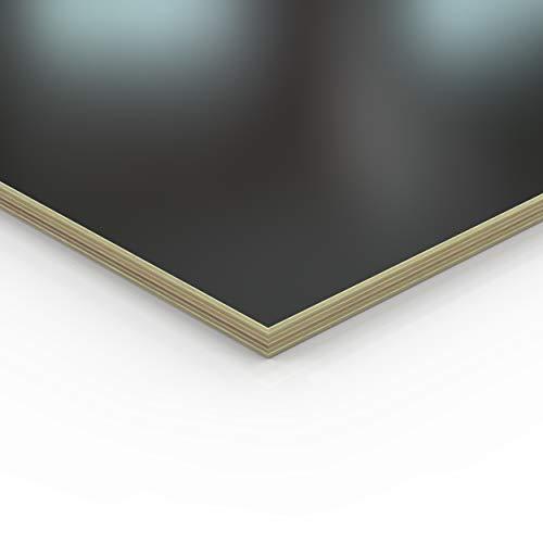 18mm Multiplex Zuschnitt schwarz melaminbeschichtet Länge bis 200cm Multiplexplatten Zuschnitte Auswahl: 60x30 cm
