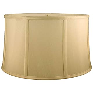 American Pride Lampshade Co. 72-78097020 Round Soft Shantung Tailored Lampshade, Honey
