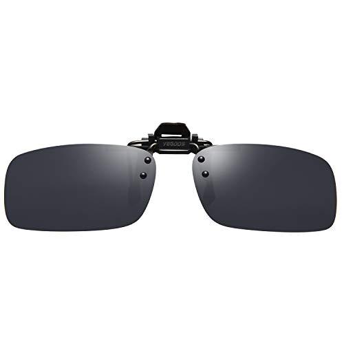 VEGOOS Sonnenbrille Aufsatz, Clip für Sonnenbrille Polarisiert Clip auf Sonnenbrille für Frauen und Männer 3028MBL