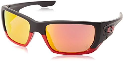 Oakley Herren Style Switch 919424 60 Sonnenbrille, Schwarz (Black/Ruby Iridium),