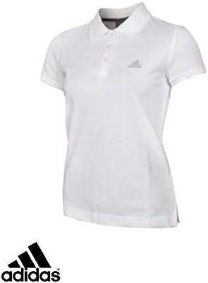 adidas Essentials-Polo de manga corta para mujer, UE Blanco